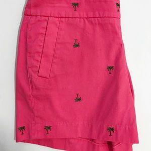 J. Crew Embroidered Palm Tree Chino Shorts